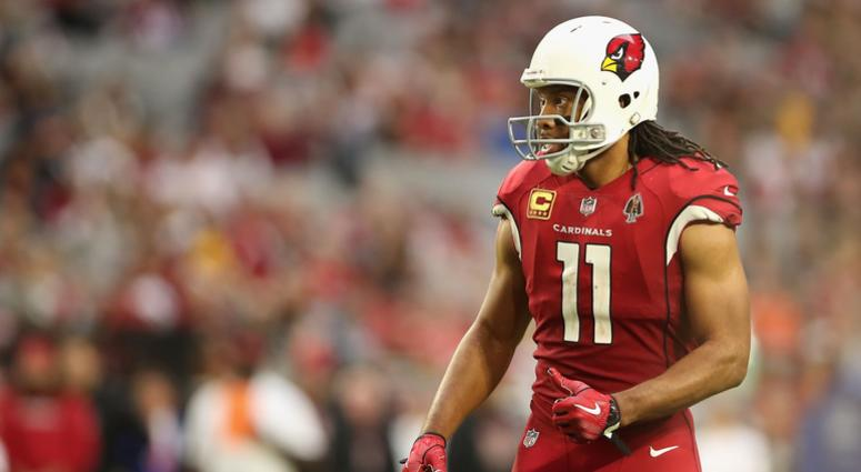 GLENDALE, ARIZONA - DECEMBER 23: Wide receiver Larry Fitzgerald #11 of the Arizona Cardinals during the NFL game against the Los Angeles Rams at State Farm Stadium on December 23, 2018 in Glendale, Arizona. The Rams defeated the Cardinals 31-9. (Photo by