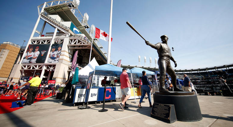 CLEVELAND, OHIO - JULY 09: Fans walk through a concourse prior to the 2019 MLB All-Star Game, presented by Mastercard at Progressive Field on July 09, 2019 in Cleveland, Ohio.