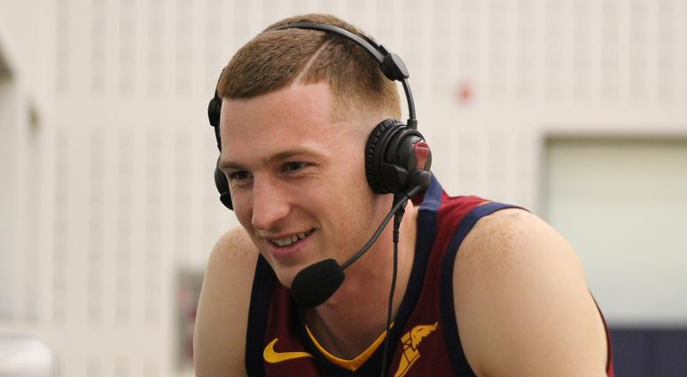 Newly drafted Cavaliers rookie Dylan Windler joined Bull and Fox after he was introduced at Cleveland Clinic Courts