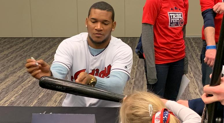 Rodriguez signs for a young fan