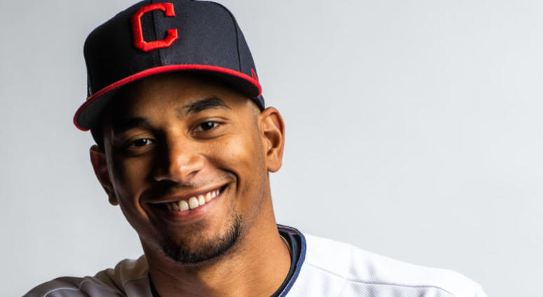 GOODYEAR, AZ - FEBRUARY 21: Oscar Mercado #67 of the Cleveland Indians poses for a portrait at the Cleveland Indians Player Development Complex on February 21, 2019 in Goodyear, Arizona.