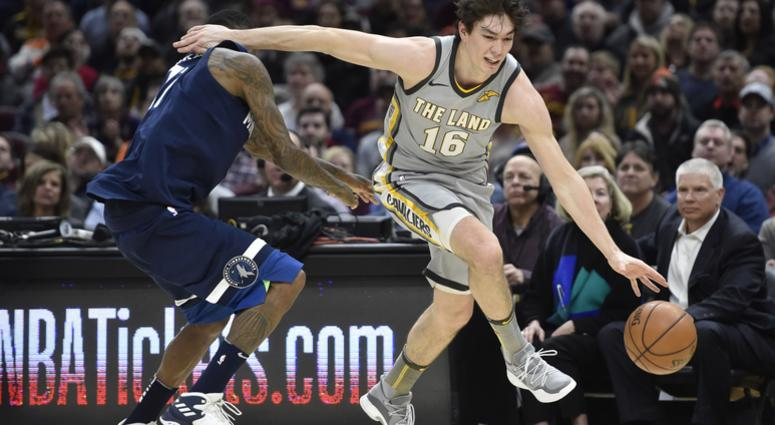 9beeb451f Cleveland Cavaliers forward Cedi Osman (16) drives against Minnesota  Timberwolves guard Jamal Crawford (