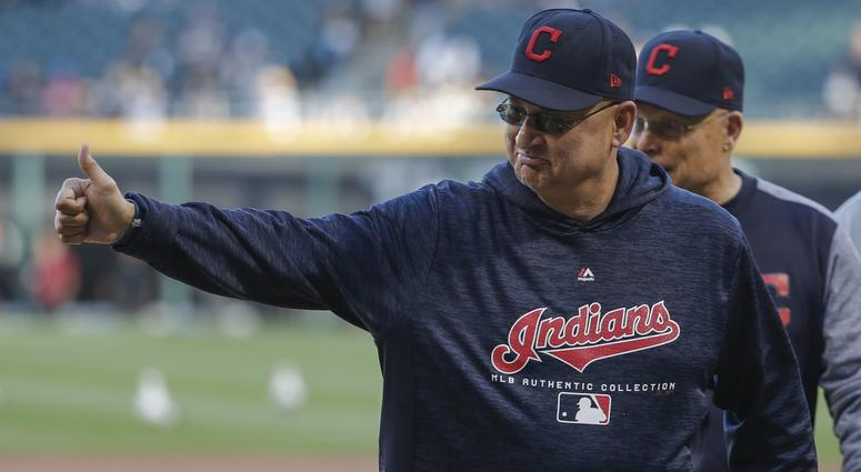 Jun 13, 2018; Chicago, IL, USA; Cleveland Indians manager Terry Francona (77) smiles before MLB game against the Chicago White Sox at Guaranteed Rate Field. Mandatory Credit: Kamil Krzaczynski-USA TODAY Sports