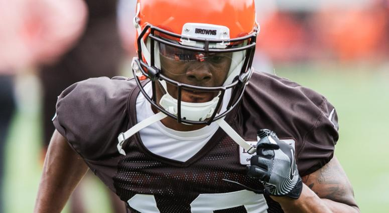 Cleveland Browns wide receiver Corey Coleman (19) during minicamp at the Cleveland Browns training facility.