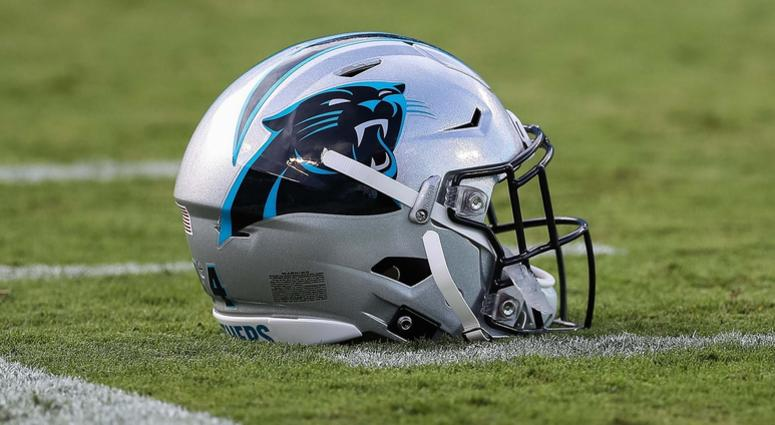 Aug 17, 2018; Charlotte, NC, USA; Carolina Panthers helmet during the first quarter between the Carolina Panthers and the Miami Dolphins at Bank of America Stadium. Mandatory Credit: Jim Dedmon-USA TODAY Sports