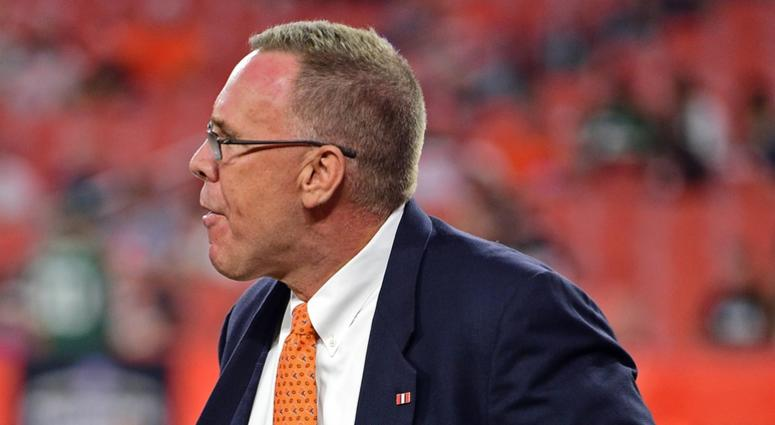 Cleveland Browns general Manager John Dorsey walks before the game against the Cleveland Browns at FirstEnergy Stadium.