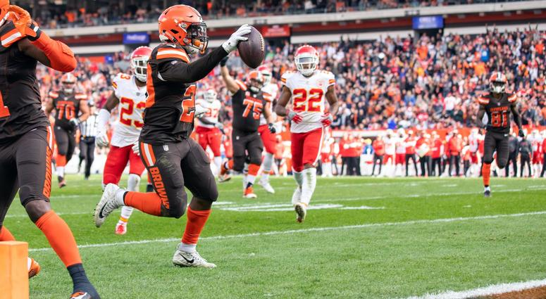 Duke Johnson scored touchdown against Kansas City Chiefs for Cleveland Browns