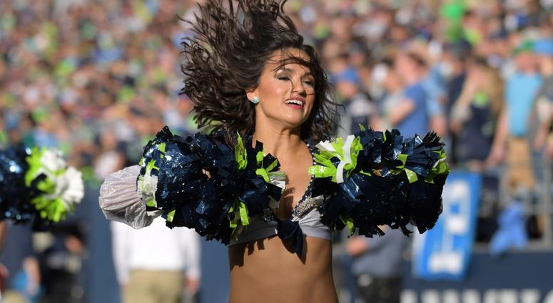 Nov 4, 2018; Seattle, WA, USA; Seattle Seahawks sea gals cheerleaders perform during the game against the Los Angeles Chargers at CenturyLink Field. Mandatory Credit: Kirby Lee-USA TODAY Sports