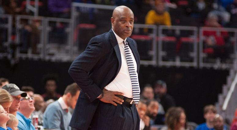 Cleveland Cavaliers head coach Larry Drew during the game against the Detroit Pistons at Little Caesars Arena.