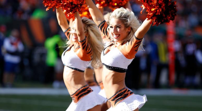 Dec 2, 2018; Cincinnati, OH, USA; A Cincinnati Bengals cheerleader performs during the first quarter against the Denver Broncos at Paul Brown Stadium. Mandatory Credit: David Kohl-USA TODAY Sports