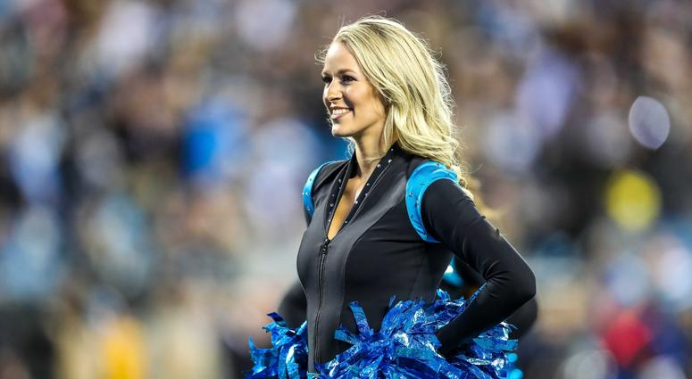 Dec 17, 2018; Charlotte, NC, USA; Carolina Panthers Topcats cheerleader during the second quarter between the Carolina Panthers and the New Orleans Saints at Bank of America Stadium. Mandatory Credit: Jim Dedmon-USA TODAY Sports