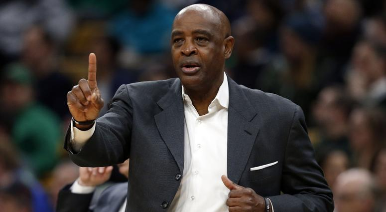 Jan 23, 2019; Boston, MA, USA; Cleveland Cavaliers head coach Larry Drew reacts on the side line during the first half Boston Celtics at TD Garden. Mandatory Credit: Greg M. Cooper-USA TODAY Sports