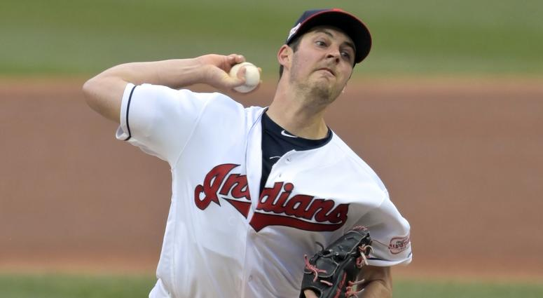 Apr 4, 2019; Cleveland, OH, USA; Cleveland Indians starting pitcher Trevor Bauer (47) delivers in the second inning against the Toronto Blue Jays at Progressive Field. Mandatory Credit: David Richard-USA TODAY Sports