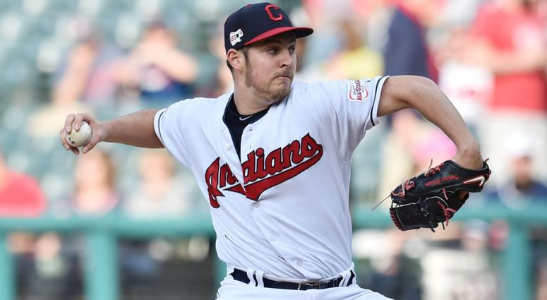 May 6, 2019; Cleveland, OH, USA; Cleveland Indians starting pitcher Trevor Bauer (47) throws a pitch during the first inning against the Chicago White Sox at Progressive Field. Mandatory Credit: Ken Blaze-USA TODAY Sports