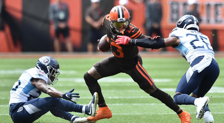 ames is signing as a free agent with the Los Angeles Lakers, leaving the Cavaliers for the second time to join one of the NBA's most iconic franchises.Sep 8, 2019; Cleveland, OH, USA; Cleveland Browns wide receiver Odell Beckham (13) runs with the ball af