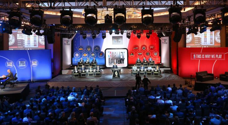 General view during the NBA draft lottery at New York Hilton Midtown. The Philadelphia 76ers received the first overall pick in the 2016 draft