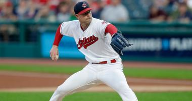 Cleveland Indians starting pitcher Corey Kluber delivers in the first inning of a baseball game against the Chicago White Sox, Tuesday, Sept. 18, 2018, in Cleveland.