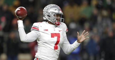 Ohio State quarterback Dwayne Haskins (7) throws against Purdue during the first half of an NCAA college football game in West Lafayette, Ind., Saturday, Oct. 20, 2018. (AP Photo/Michael Conroy)
