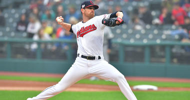 CLEVELAND, OHIO - MAY 03: Starting pitcher Shane Bieber #57 of the Cleveland Indians pitches during the first inning against the Seattle Mariners at Progressive Field on May 03, 2019 in Cleveland, Ohio. (Photo by Jason Miller/Getty Images)