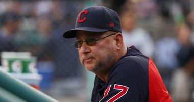 DETROIT, MICHIGAN - AUGUST 28: Manager Terry Francona of the Cleveland Indians looks on while playing the Detroit Tigers at Comerica Park on August 28, 2019 in Detroit, Michigan. (Photo by Gregory Shamus/Getty Images)
