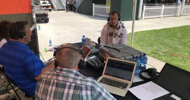 Browns LB Joe Schobert joins Andy Baskin and Jeff Phelps after practice