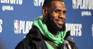 Cavaliers forward LeBron James speaks with reporters following their 98-80 loss in Game 1 to Indiana