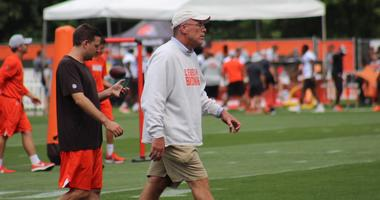 Browns assistant general manager Eliot Wolf (L) and general manager John Dorsey (R)