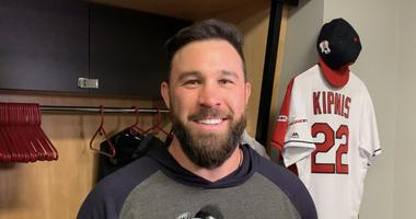 Jason Kipnis is all smiles as he continues to rehab from a calf injury