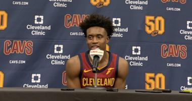 Collin Sexton speaks at Cavs media day
