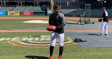 Francisco Lindor smiles prior to Saturday's game against Toronto