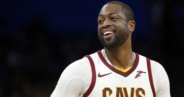Jan 6, 2018; Orlando, FL, USA; Cleveland Cavaliers guard Dwyane Wade (9) smiles as he looks on against the Orlando Magic during the second quarter at Amway Center. Mandatory Credit: Kim Klement-USA TODAY Sports