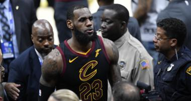 Cleveland Cavaliers forward LeBron James (23) leaves the floor after game four of the 2018 NBA Finals against the Golden State Warriors at Quicken Loans Arena.