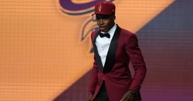 Collin Sexton (Alabama) walks off stage after being selected as the number eight overall pick to the Cleveland CAvaliers in the first round of the 2018 NBA Draft at the Barclays Center.