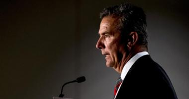 Ohio State head coach Urban Meyer addresses the media during the Big Ten football media day at Chicago Marriott Downtown Magnificent Mile.