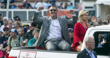 Jul 28, 2018; Cooperstown, NY, USA; Hall of Fame Inductee Jim Thome arrives at National Baseball Hall of Fame.