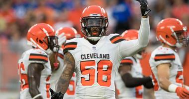 Cleveland Browns linebacker Christian Kirksey (58) at FirstEnergy Stadium.