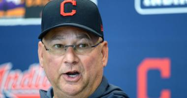 Feb 18, 2019; Goodyear, AZ, USA; Cleveland Indians manager Terry Francona speaks to the media prior to a spring training workout at the Goodyear Ballpark practice fields. Mandatory Credit: Joe Camporeale-USA TODAY Sports