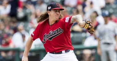 Apr 7, 2019; Cleveland, OH, USA; Cleveland Indians starting pitcher Mike Clevinger (52) throws a pitch during the first inning against the Toronto Blue Jays at Progressive Field. Mandatory Credit: Ken Blaze-USA TODAY Sports
