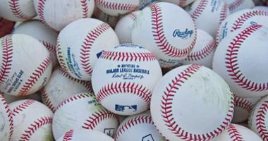 Apr 12, 2019; Kansas City, MO, USA; A general view of baseballs during batting practice prior to a game between the Kansas City Royals and Cleveland Indians at Kauffman Stadium. Mandatory Credit: Peter G. Aiken/USA TODAY Sports