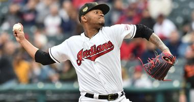 May 17, 2019; Cleveland, OH, USA; Cleveland Indians starting pitcher Jefry Rodriguez (68) throws a pitch during the first inning against the Baltimore Orioles at Progressive Field. Mandatory Credit: Ken Blaze-USA TODAY Sports