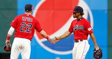Cleveland Indians infielders Jason Kipnis and Francisco Lindor
