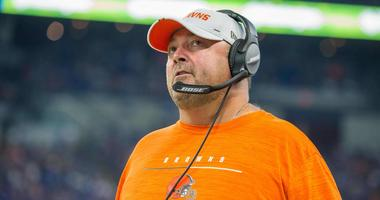 Cleveland Browns head coach Freddie Kitchens on the sidelines in the second quarter of the game against the Indianapolis Colts at Lucas Oil Stadium.