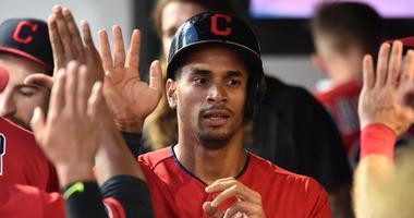 Cleveland Indians center fielder Oscar Mercado (35)