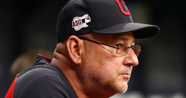 Cleveland Indians manager Terry Francona (77) at Tropicana Field.