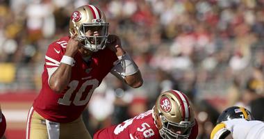 San Francisco 49ers quarterback Jimmy Garoppolo (10)