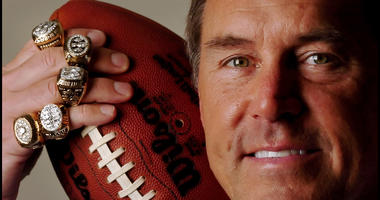 A 2007 file photo of Dwight Clark, a native of Charlotte, North Carolina, who won five Super Bowl rings with the 49ers as a player and front office executive