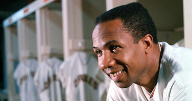Frank Robinson in a file photo from April 10, 1966. (Photo by Richard Stacks/Baltimore Sun/TNS/Sipa USA)
