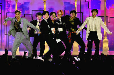 BTS perform onstage during the 2019 Billboard Music Awards at MGM Grand Garden Arena on May 1, 2019 in Las Vegas, Nevada