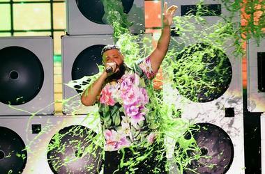 DJ Khaled Slimed At 2019 Kids' Choice Awards
