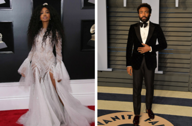 SZA arrives at the GRAMMY Awards in New York City / Donald Glover (Childish Gambino) arrives at  GRAMMY Awards in New York City